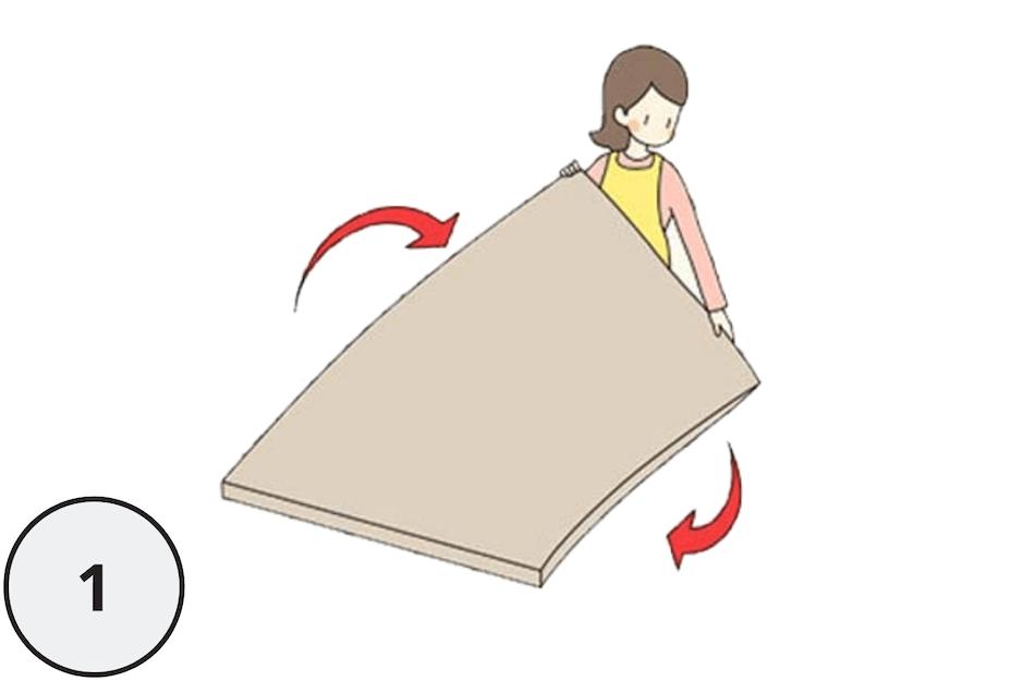 マットレスの寿命を伸ばすお手入れ方法解説図