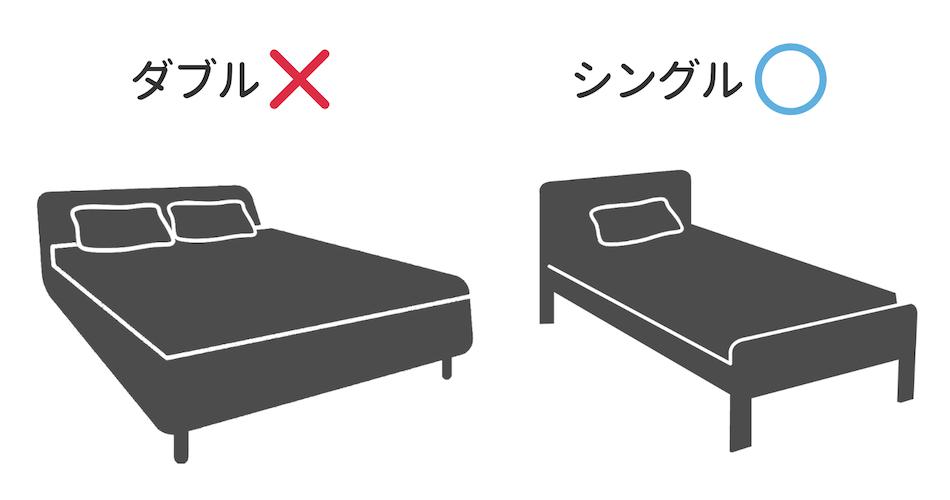 ダブルサイズとシングルサイズの画像