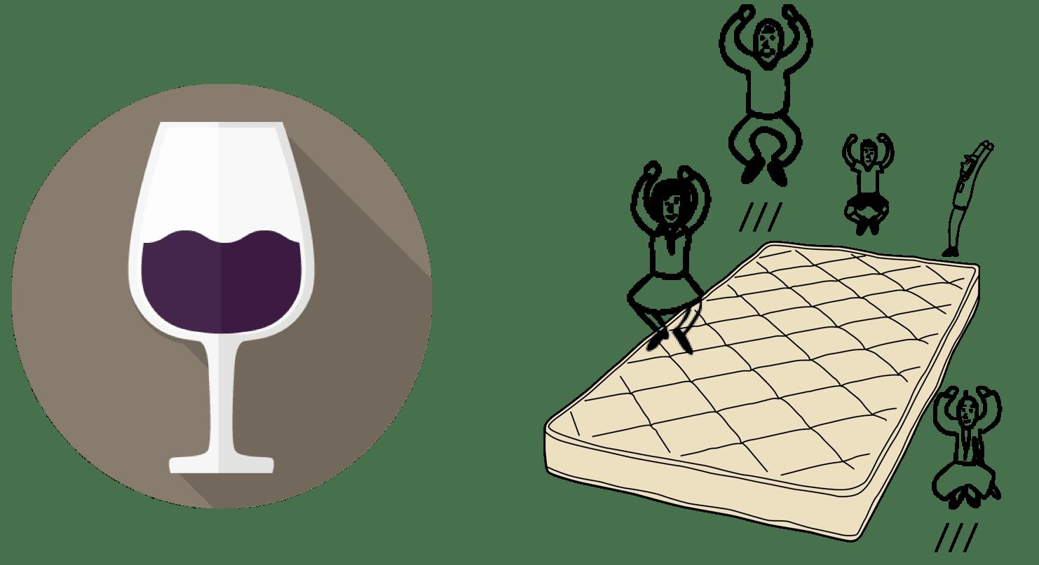 コアラマットレスのワインチャレンジ