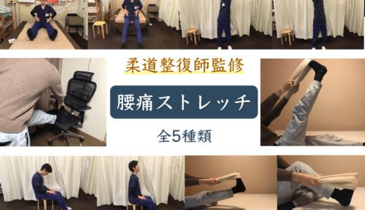 【簡単にできる腰痛ストレッチ】全5種類ご紹介!寝る前に寝ながら・座ったまま椅子で・立ったままでもできます!