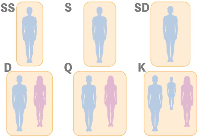 マットレスサイズ1/40縮小図解